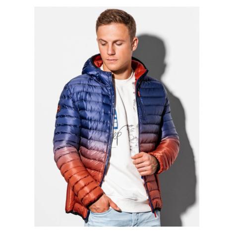 Ombre Clothing Moderní fialová bunda ve stylovém provedení C319