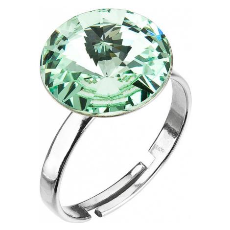 Evolution Group Stříbrný prsten s krystaly zelený 35018.3 chrysolite