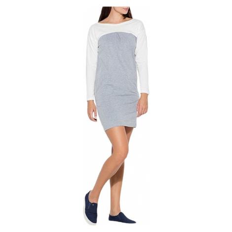 šedé komfort šaty Katrus