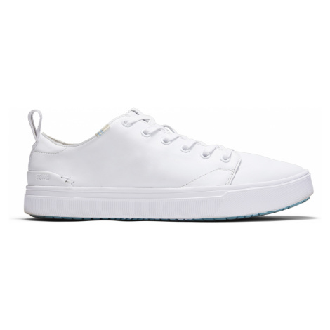WHITE LEATHER MN TRVLO SNEAK Toms