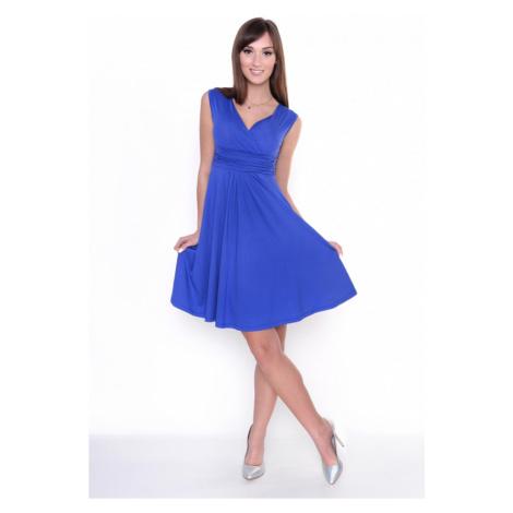 Delší vycházkové šaty bez rukávů barva modrá Oxyd