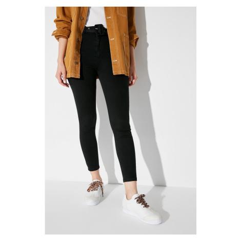 Trendyol White Kroko Patterned Women's Sneaker