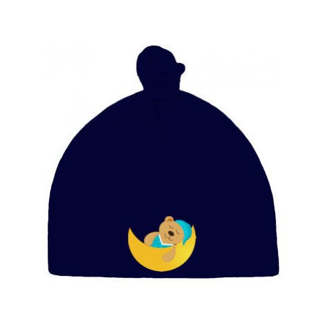 Dětská čepice s uzlem Spící méďa