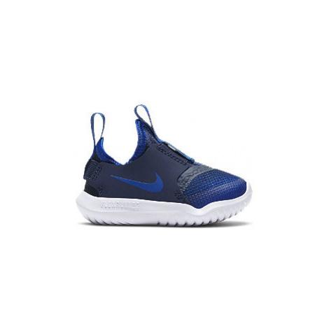 Modré dětské slip-on tenisky Nike Flex Runner