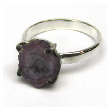 AutorskeSperky.com - Stříbrný prsten rubíny ve stalaktitu - S4717
