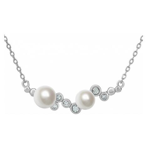 Silvego Stříbrný perlový náhrdelník ILUMIA JJJN0972