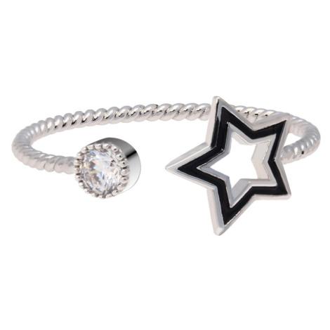 Anna Grace prstýnek Silver Sparkle Crystal Star 46 - 18 mm