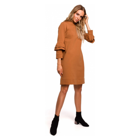 Made Of Emotion Woman's Dress M446 Caramel