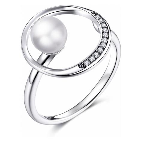 Linda's Jewelry Stříbrný prsten Perlová Planeta Ag 925/1000 IPR069 Velikost: Univerzální