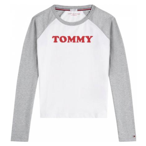 Bílo-šedé tričko LS Slogan Tommy Sleep Tommy Hilfiger