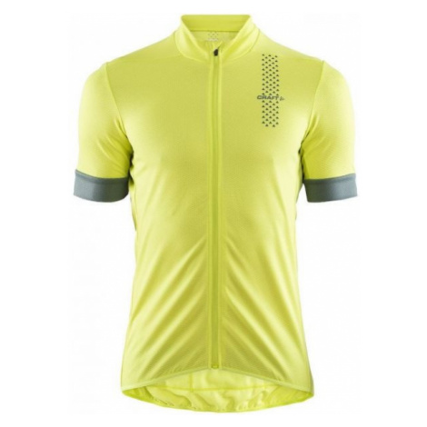 Craft RISE žlutá - Pánský cyklistický dres