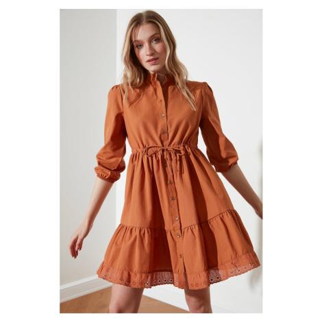 Trendyol Camel Bound Shirt Dress