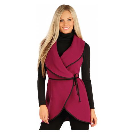 LITEX Fleecová vesta dámská dlouhá 60485323 Vínová