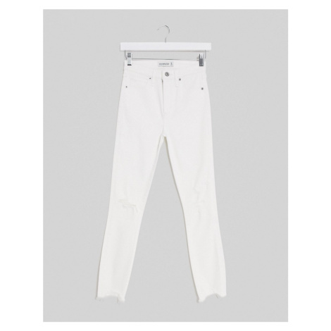 Abercrombie & Fitch high waist skinny denim jean in white