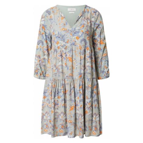 Rich & Royal Šaty oranžová / mátová / fialová / bílá