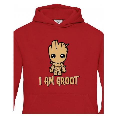 Dětská mikina Groot z filmu Strážci galaxie - Já jsem Groot na mikině BezvaTriko
