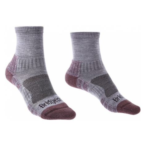 Ponožky Bridgedale Hike Lightweight Ankle Merino Performance Women's heather/damson/814