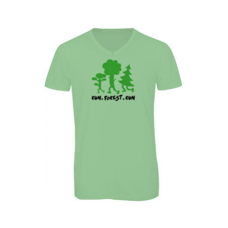 Pánské triko s výstřihem do V Run forest run