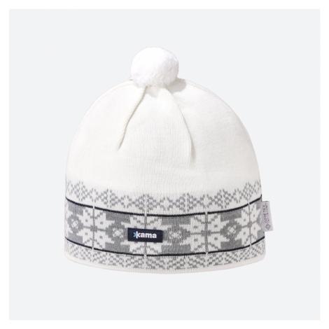 Kama pletená merino čepice AW68 přírodně bílá