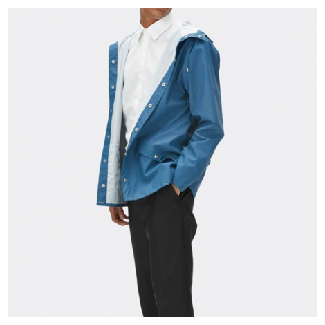 Modrá voděodolná bunda Jacket RAINS