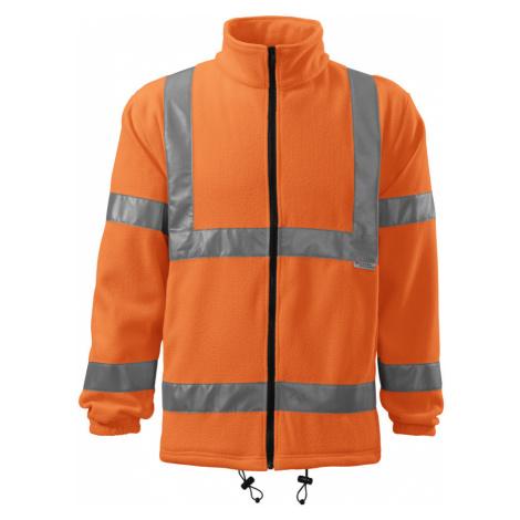 RIMECK Uni fleecová bunda 5V198 reflexní oranžová