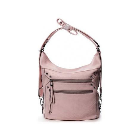 Romina Co. Bags Dámská kabelka batoh růžová - Romina Alfa Růžová