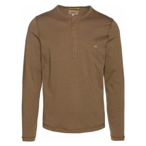 Tričko Camel Active Ls Henley Fine Stripes - Oranžová