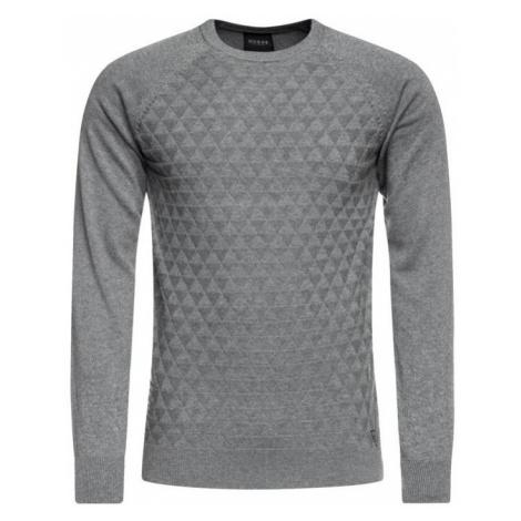 Guess GUESS pánský šedý bavlněný svetr