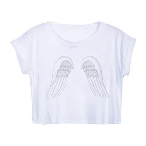 Dámské tričko Organic Crop Top Andělská křídla