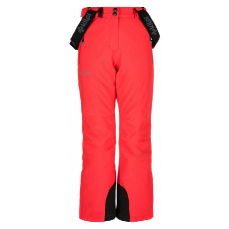 KILPI Dívčí lyžařské kalhoty EUROPA-JG JJ0045KIPNK Růžová