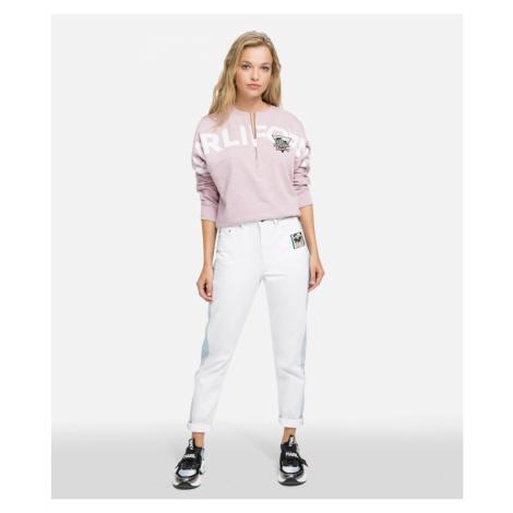 Mikina Karl Lagerfeld Karlifornia Cropped Sweatshirt - Růžová