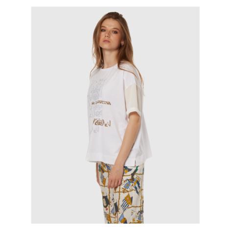 Tričko La Martina Woman T-Shirt Jersey - Bílá