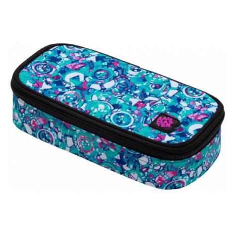 Studentský penál BAGMASTER CASE ENERGY 20 B WHITE/PINK/VIOLET/BLUE, barevný, stylový pro holky,