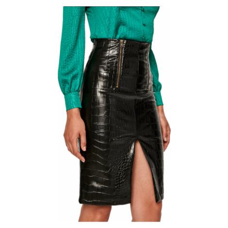 Černá sukně s krokodýlím vzorem TWINSET
