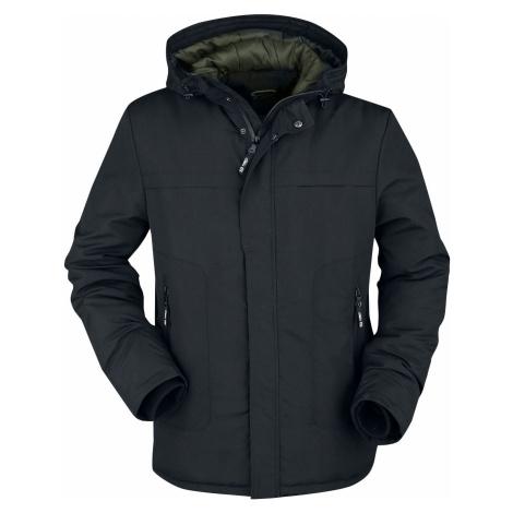 RED by EMP Přechodní bunda s barevnou podšívkou na kapuci bunda černá