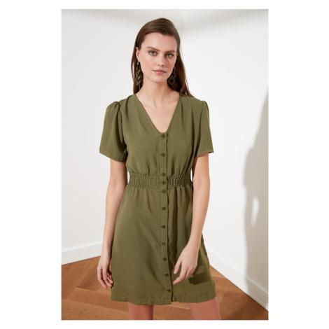 Trendyol Green Button Dress