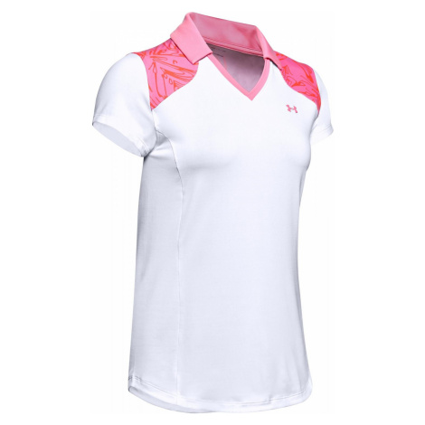 Dámské tričko polo Under Armour Zinger Blocked Bílá / Růžová