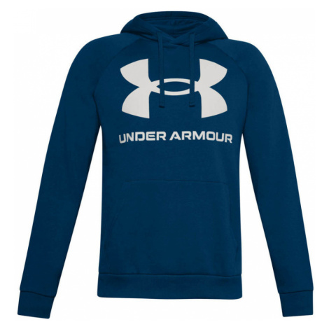 Under Armour Rival Fleece Big Logo HD Pánská mikina 1357093-581 Graphite Blue