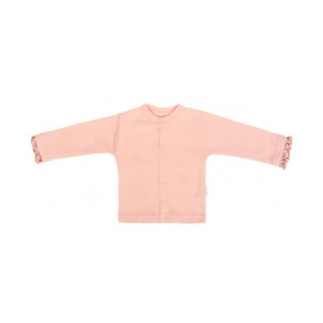 Mamatti Novozenecká bavlněná košilka, kabátek, Květinka - pudrová, vel.