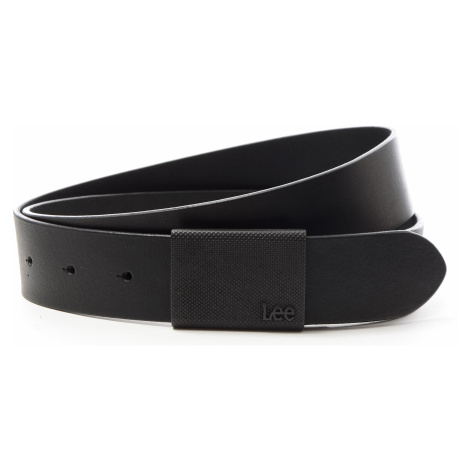 Kožený opasek Lee Buckle Belt Black černý
