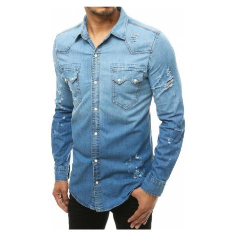 Modrá pánská džínová košile (DX1928) BASIC