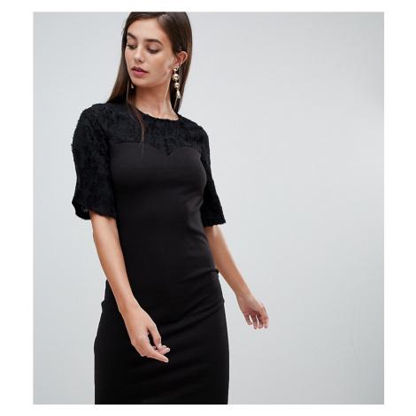 Y.A.S Tall Louise floral yolk shift dress-Black
