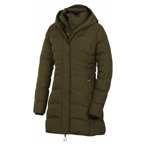 Husky Normy L, tm. khaki Dámský hardshell plněný kabátek