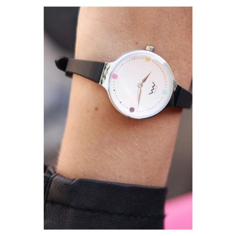 Dámské černo-stříbrné hodinky Beatific VUCH