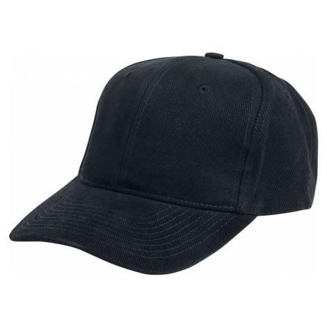 Beechfield Bavlněná čepice Pro Style Heavy Brushed Baseballová kšiltovka černá