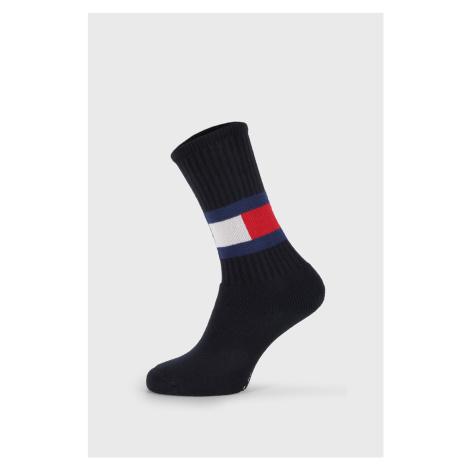 Vysoké modré ponožky Tommy Hilfiger Flag