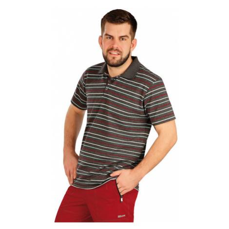 Pánské polo triko s krátkým rukávem Litex 5A403   pruhy