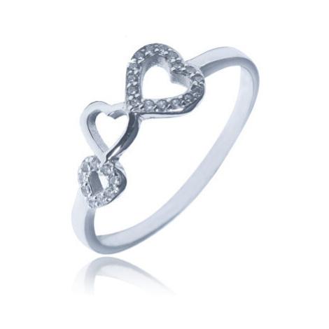 JVD Romantický stříbrný prsten se zirkony SVLR0330XH2BI