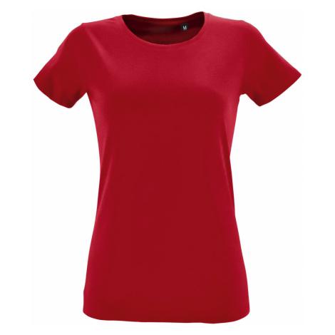 SOĽS Dámské tričko REGENT FIT WOMEN 02758145 Red SOL'S