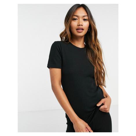 Lindex 100% merino wool base layer t-shirt in black